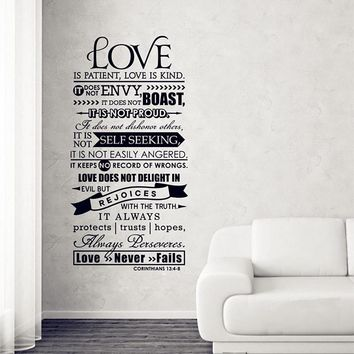 Corinthians 13  Love Wall Decal