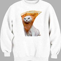 Trippy Pizza Cat Sweater for Mens Sweater and Womens Sweater ***