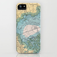 Vintage Arctic Map iPhone Case by Catherine Holcombe | Society6
