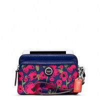 Coach :: Poppy Flower Print Double Zip Wristlet