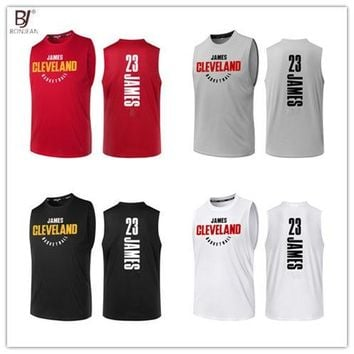 BONJEAN Design 23 LeBron James King Printing Jersey Top Quality Uniforms Sports Basketball Jerseys Breathable Training Shirts