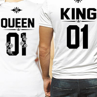 ROYALTY KING and QUEEN couple t-shirts