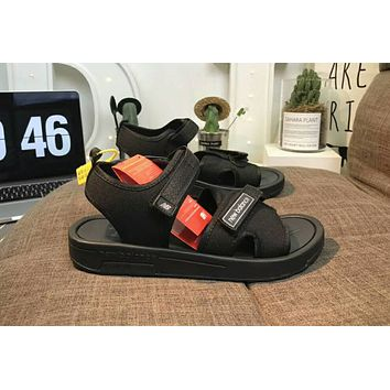 New balance 2018 summer counter tide brand fashion casual wild slippers sandals F-CSXY black