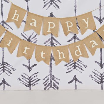 Happy Birthday Burlap Banners