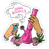 Bong Buddies // 420 Smoke Stoner Girl by hocapontas