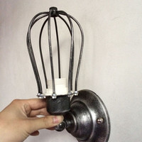 Wall Sconce lamp lights 2014 new squirrel design rustic iron cage Edison bulb sconce steampunk industrial lighting CAFUN
