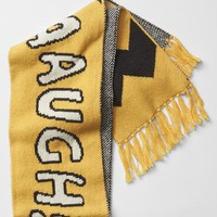 Gap Boys Gapkids + Peanuts Intarsia Statement Scarf Size One Size - Starlight gold