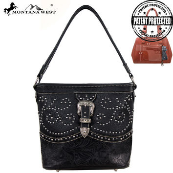 Montana West MW127G-916 Buckle Concealed Carry Handbag