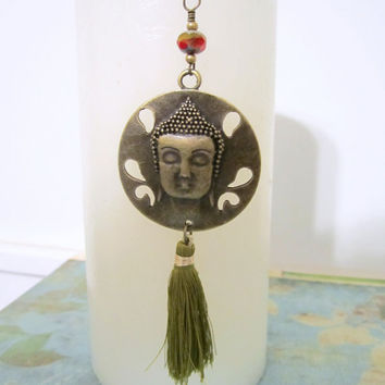 Buddha Pendant with Tassel by 636designs