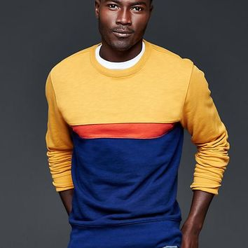 Gap Men Lived In Colorblock Stripe Sweatshirt