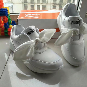 """PUMA"" Fashion Casual Ribbon Thick Bottom Sneakers Women Running Shoes"