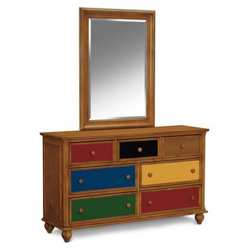 Colorworks Pine Dresser & Mirror