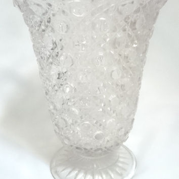 Beautiful vintage glass vase, 1950's English made