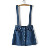 Women's Fashion Denim Dress [4919625156]