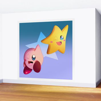 Kirby and Starfy Wall Mural by ganenethegriffox