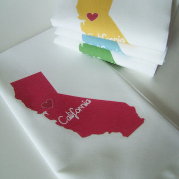 I Love California Napkins in Pop Color- Set of FOUR