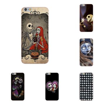Luxury Protector Phone Case For Apple iPhone 4 4S 5 5C 5S SE 6 6S 7 8 Plus X Jack Skellington The Nightmare Before Christmas