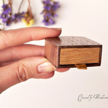 Engagement ring box - earring box by Woodstorming