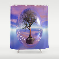 globe of life Shower Curtain by Store2u