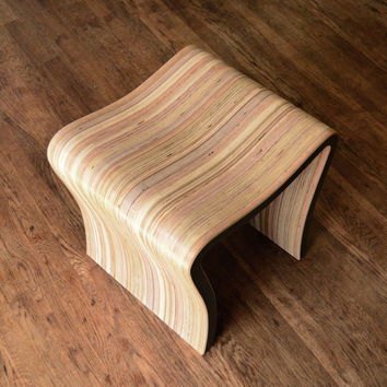 Organic Stool - hand crafted stool made from reclaimed plywood