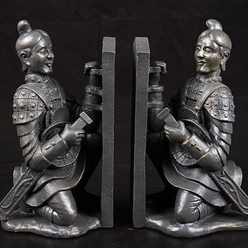 Kneeling Terracotta Warriors Xian Bookends - 8016
