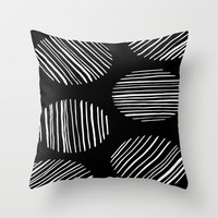 Circles #1 Throw Pillow by Salted Seven