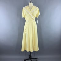 Vintage 1950s Dress / Yellow Seersucker Wrap Dress – ThisBlueBird - Modern Vintage