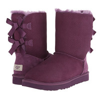 UGG Bailey Bow Exotic Scales Tropical Sunset Suede - Zappos.com Free Shipping BOTH Ways