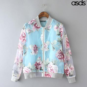 2018 Asds New Beautiful Fashion Ethnic Style Eugen Yarn Printing Sunscreen Super Thin  Mlb Jacket Coat Female Models   Wwt20674