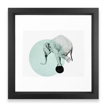 Society6 Elephant Framed Print