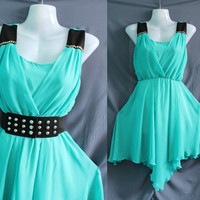 Dreamy Chiffon Party Dress - Romantic Ruffle Cocktail Dress - Sweet Green Girl Short Prom Dress