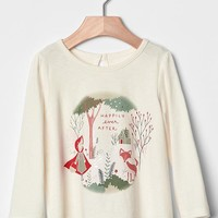 Gap Baby Graphic Keyhole Top