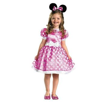 VONEKT2 Disney's Minnie Mouse Costume - Girls 4-8 (Pink)