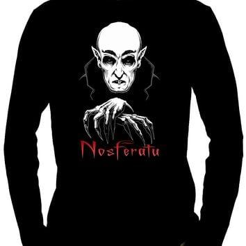 Nosferatu 1922 Vampire Count Orlok Long Sleeve Shirt Dracula Gothic Alternative Clothing