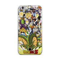 Dragon Ball Z Characters Collage Piccolo Super Saiyan Gohan Goku Trunks Android 18 Bulma ChiChi iPhone 4 4s 5 5s 5C 6 6s 6 Plus 6s Plus 7 & 7 Plus Case