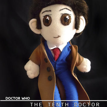 Doctor Who Tenth Doctor Plush Doll Plushie Toy Ragdoll David Tennant