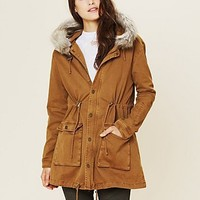 Free People Fur Hooded Parka