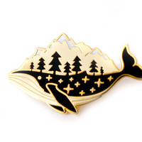 Whale-derness Enamel Pin