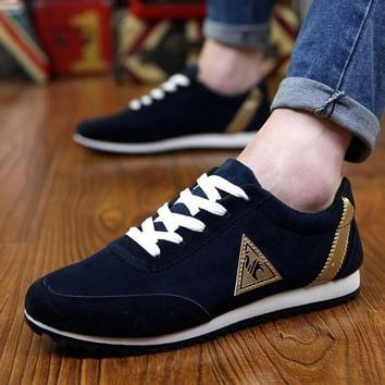 Akexiya running shoes for men Spring and summer outdoor Breathable shoes man sneakers Cool England canvas shoes flat men's shoes