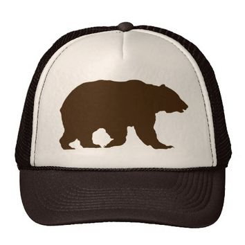 Bear Hat Grizzly Bear Brown Silhouette 92719f621ce7