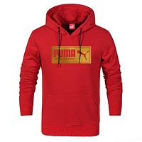 PUMA 2018 autumn and winter new style head sports and leisure hooded sweater Red