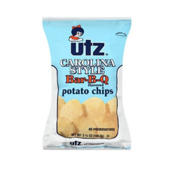 Utz Carolina Barbeque Potato Chips 3.5 oz Bags - Pack of 12