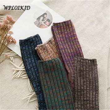 [WPLOIKJD] Harajuku Thick Socks Pile Heap Unisex Socks for Male Female Harajuku Men Women's Socks Thigh High Over The Knee Socks