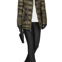 BCBG Adela Faux-Fur Trim Puffer Coat