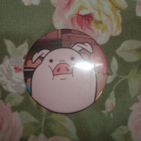 Waddles the Pig from Gravity Falls 2 1/4 inch by Onecraftyhippo