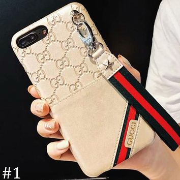GUCCI 2018 new tide brand 7Plus mobile phone sets card phone case F0830-1 #1