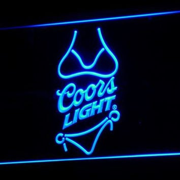Coors Light Beer Bikini Bar Pub LED Neon Sign with On/Off Switch 7 Colors to choose