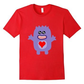 Cute Valentine's Day Tee For Kids - Monster T-Shirt For Boys
