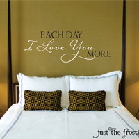 I Love You Vinyl Wall Decal - Bedroom Decal- Wedding Decal Gift - Love Vinyl Lettering