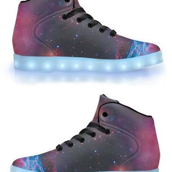 Deep Space - APP Controlled High Top LED Shoes